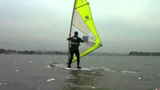 Beginners Windsurfing Lessons - Windsurf Start Position & Sailing Position