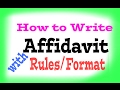 How to write/Format of Affidavit.