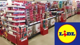 LIDL CHRISTMAS DECORATIONS HOME DECOR ORNAMENTS - SHOPPING SHOP WITH ME STORE WALK THROUGH 4K