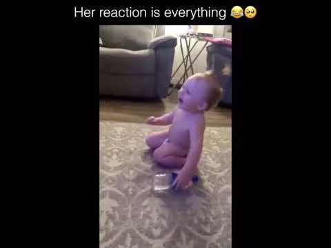 Baby Reaction After Water Bottle Flip 😍😍 - YouTube