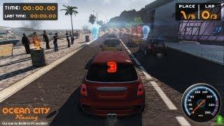 OCEAN CITY RACING Desura Gameplay Trailer ($4.99 Open World Indie Driving PC Game)