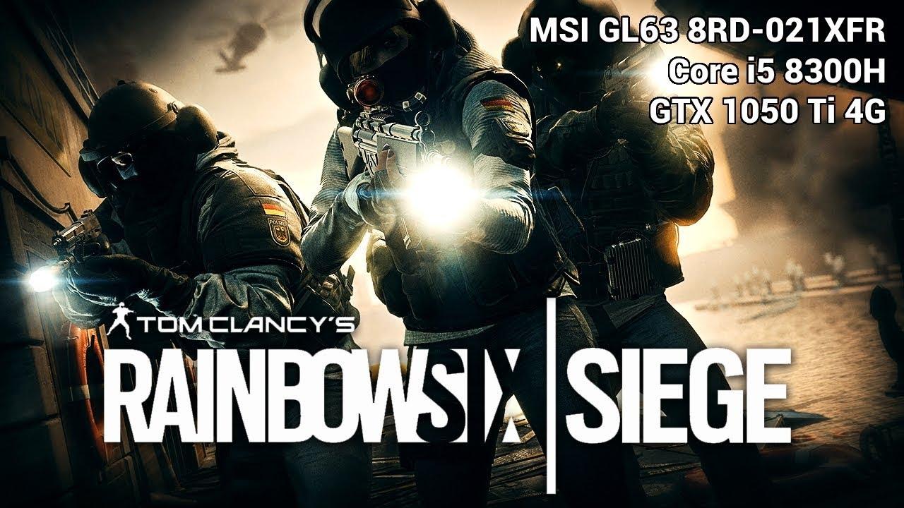 Rainbow 6 Siege | Core i5 8300H - GTX 1050 Ti 4G Mobile | Elevée - Render  Scale = 50 - 1080p