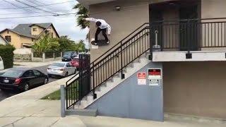 instablast massive wallride gap out p rod mikey taylor kid skating huge 20 stair ollie slam