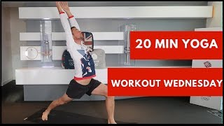 20 Min Yoga Workout with Olympic diver Leon Taylor | Workout Wednesday