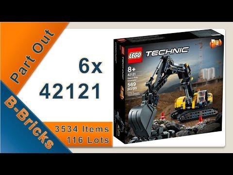 Part Out: LEGO® Technic 42121 - Hydraulikbagger, ohne Hydraulik😒