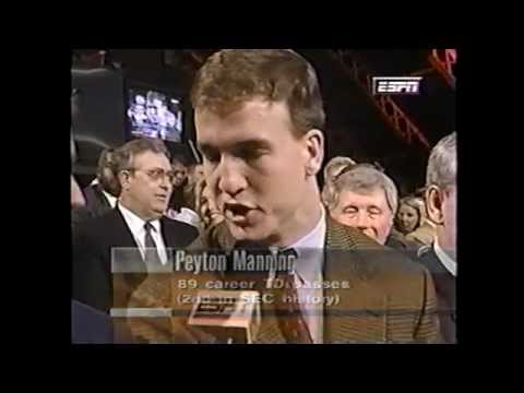 1997 Peyton Manning Post Season Awards and Heisman Trophy Ceremony