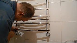 видео Как подключить полотенцесушитель в ванной самостоятельно