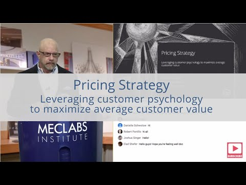 Pricing Strategy: Leveraging customer psychology to maximize average customer value