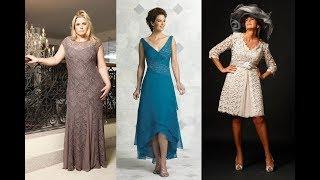 vestidos Elegantes para señoras de 50 a 60 años a mas | moda 2019