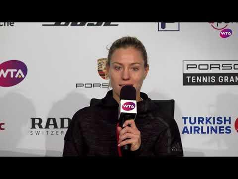 Angelique Kerber Press Conference | 2018 Stuttgart Day 3