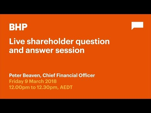 BHP Live: 9 March 2018