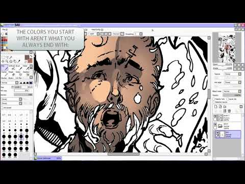 How to Digitally Paint SKIN TONES (PART 1)   Narrated Comic Art Coloring Tutorial