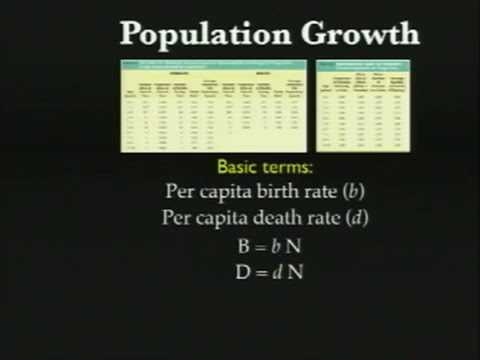 Lecture 04. Population Growth and Regulation (Biology 1B, Fall 2010, UC Berkeley)