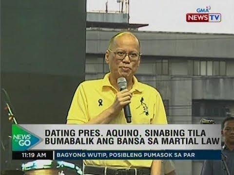 NTG: Dating Pres. Aquino, sinabing tila bumabalik ang bansa sa martial law