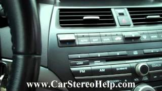 Honda Accord Bose Car Audio - Car Stereo Removal 2008 - 2012 replace 6 cd repair