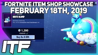 Fortnite Item Shop *NEW* BRITE BLIMP GLIDER! [February 18th, 2019] (Fortnite Battle Royale)
