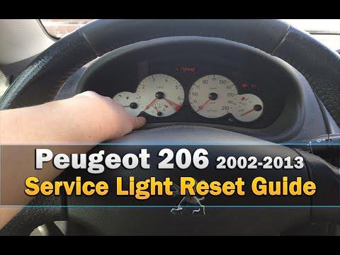 peugeot 206 service light reset very easy 2002 2013 youtube. Black Bedroom Furniture Sets. Home Design Ideas