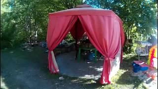 Покрытие крыши ондулином/Обзор шатра/Обед/Прихожая.
