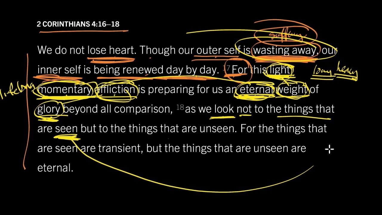 2 Corinthians 4:16–18 // Suffering Prepares Us to Enjoy God