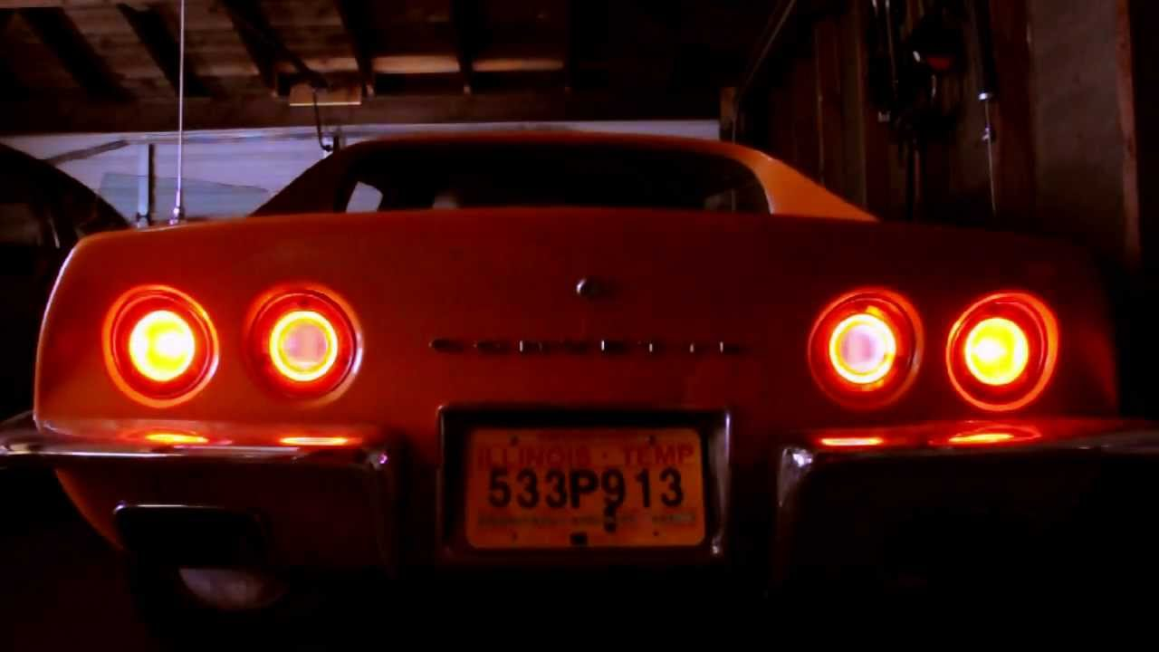 C3 1973 Corvette Led Halos And Taillights Youtube
