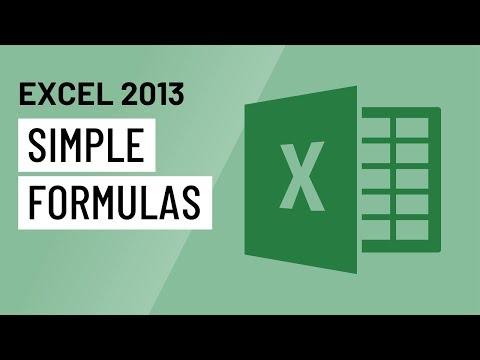 Excel Simple Formulas