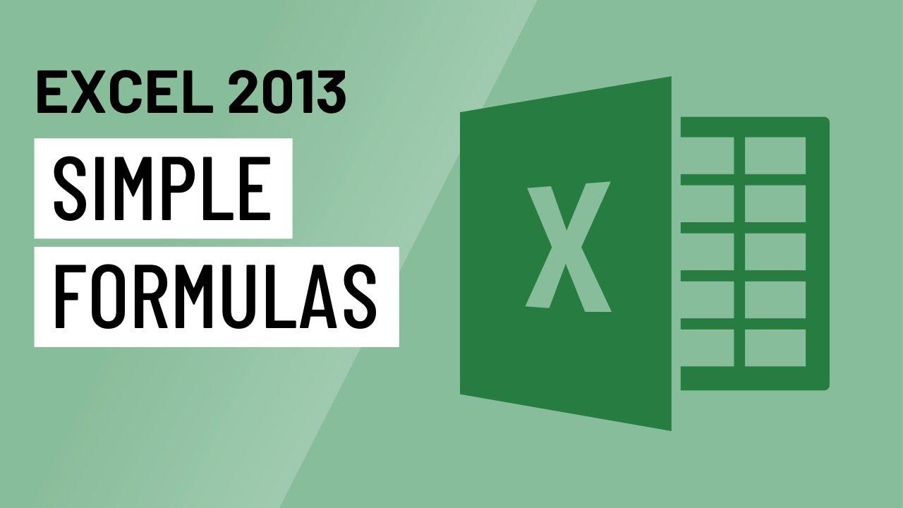 Excel 2013: Simple Formulas