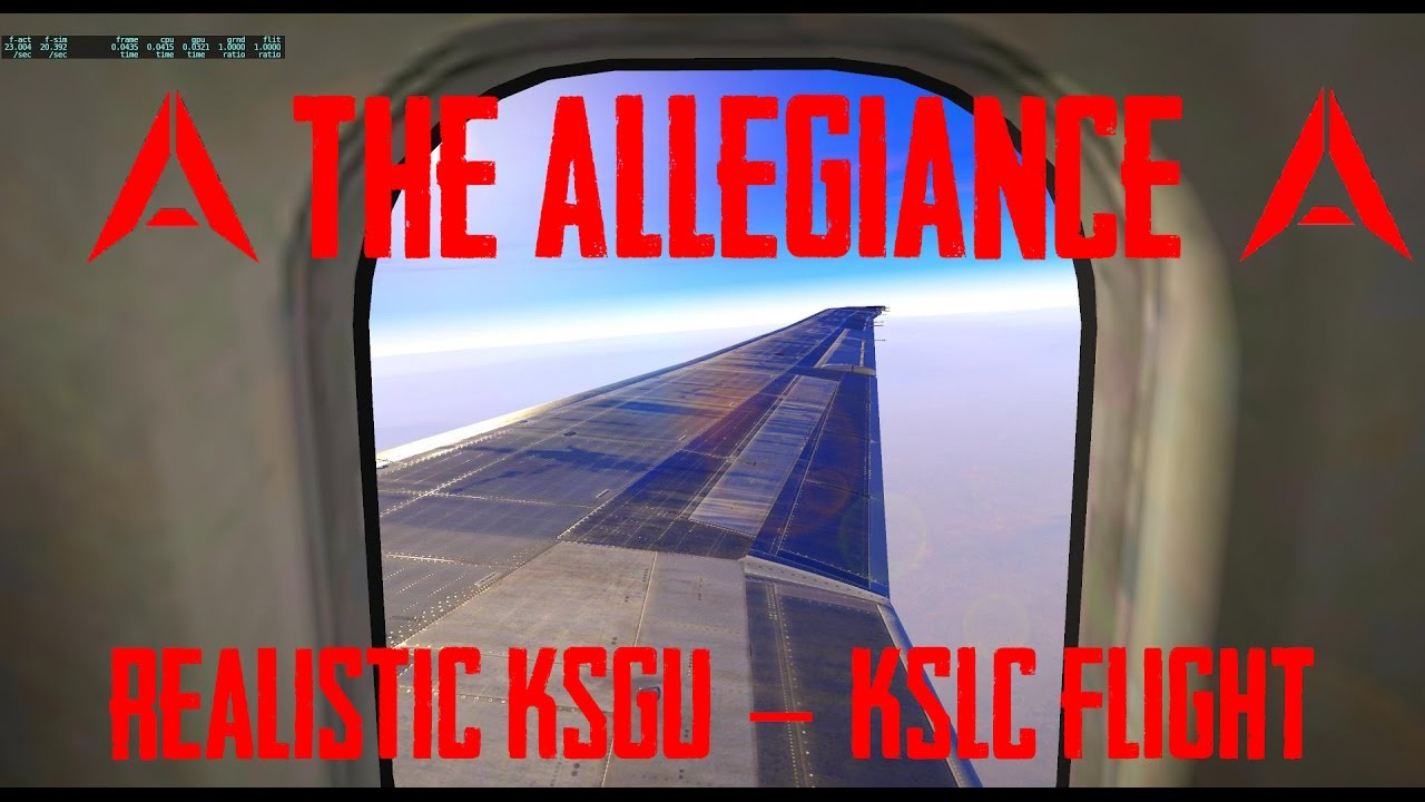 X-PLANE 11 Realistic KSGU-KSLC Take off and Landing by The Allegiance