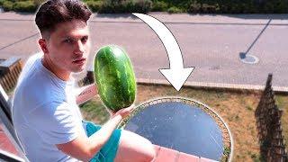 XXL Wassermelone VS Trampolin - 500cm !!!