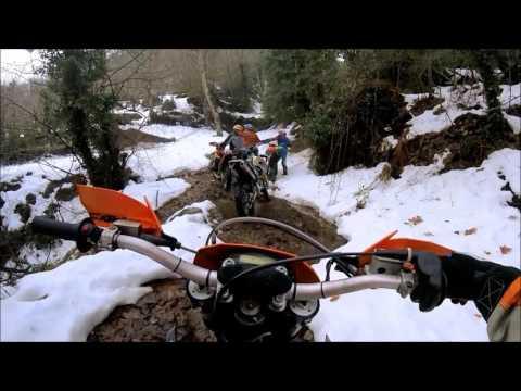 enduro Lesvos at a snowy day