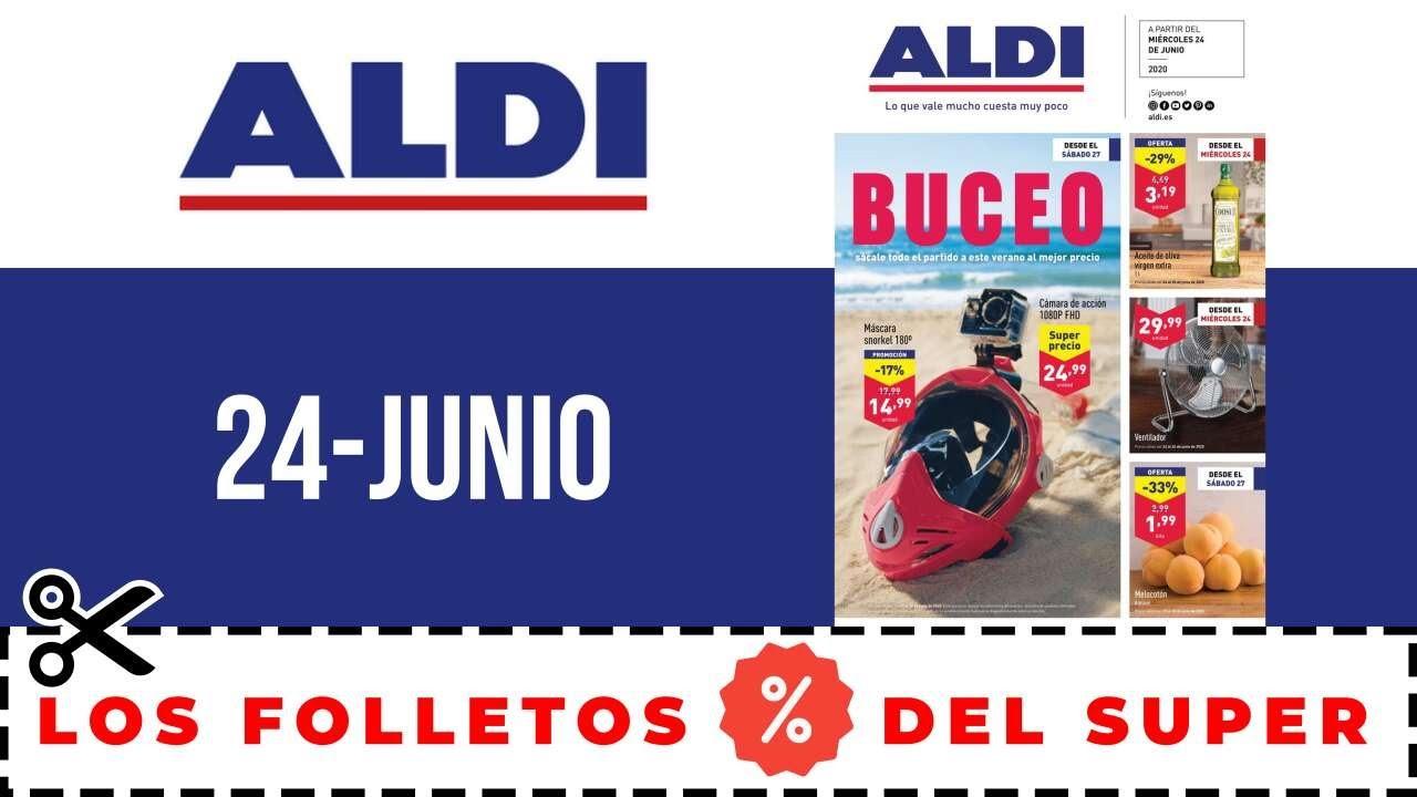 SUPERMERCADO ALDI FOLLETO OFERTAS ALDI 24 AL 30 JUNIO