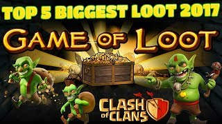 Biggest top 5 loot raids in Clash of clans 3 million resource loot
