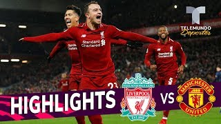 Liverpool vs. Manchester United: 3-1 Goals & Highlights | Premier League | Telemundo Deportes