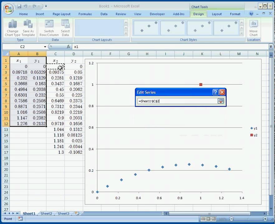 How to plot 2 scattered plots on the same graph using Excel 2007 - How To Graph Excel