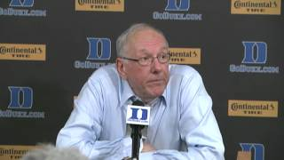 Head Coach Jim Boeheim Comments on Loss to Duke - Syracuse Men