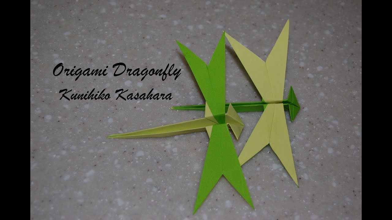 Origami dragonfly how to fold an origami dragonfly kunihiko origami dragonfly how to fold an origami dragonfly kunihiko kasahara youtube jeuxipadfo Image collections