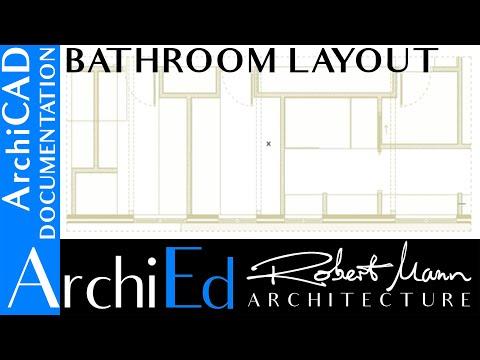 ArchiCAD Bathroom layout