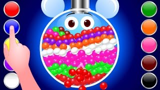 NEW Gumball Machine 3D for Children to Learn Colors|Kids Balls Surprise Learning