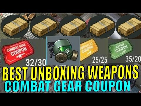 BEST WEAPON CRATE OPENING VIDEO #4 & COMBAT COUPON BOX OPENING! + GAS MASK