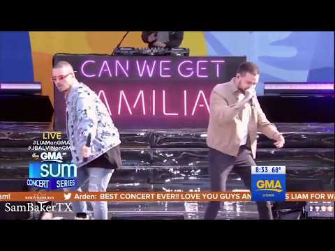 Familiar - Liam Payne Ft J Balvin - LIVE On Summer Concert Series GMA 15/05/2018