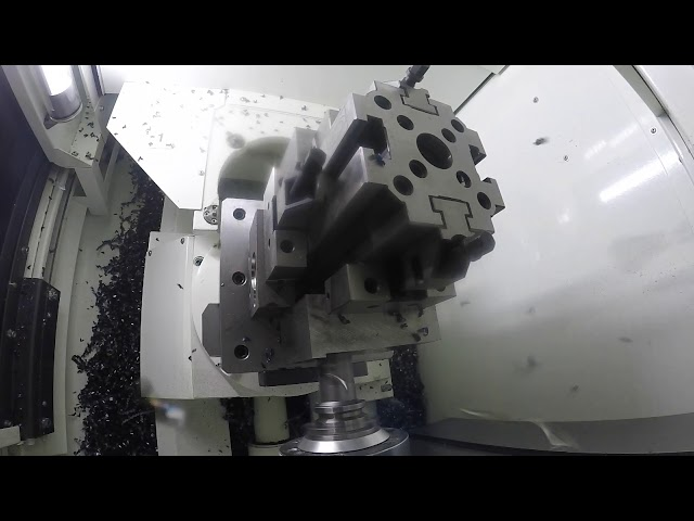 Kitamura HX250iG Drilling Big Hole with 30 Taper