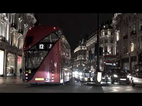 Central London Night Drive, Virtual Tour, England, UK 🇬🇧