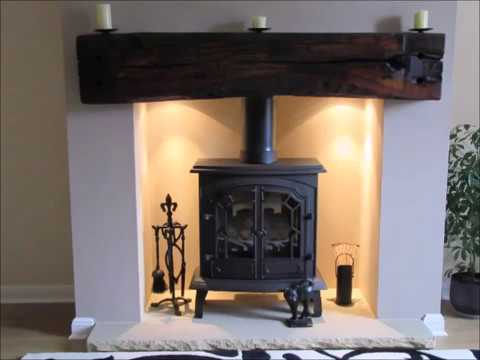 Railway Sleeper Fireplace Beam Youtube