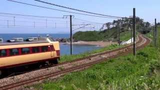信越本線・青海川~鯨波を走る列車