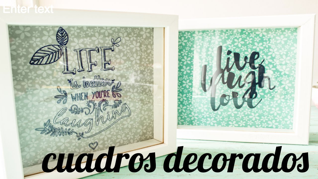 Cuadros decorativos con Silhouette - YouTube