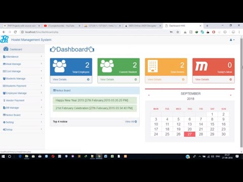 Hostel Management System Project in PHP - YouTube