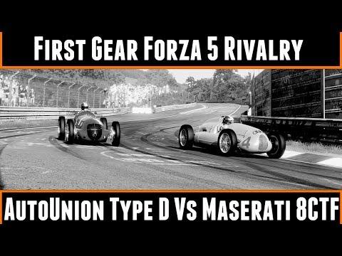 First Gear Forza 5 Rivalry Autounion Type D Vs Maserati 8CTF