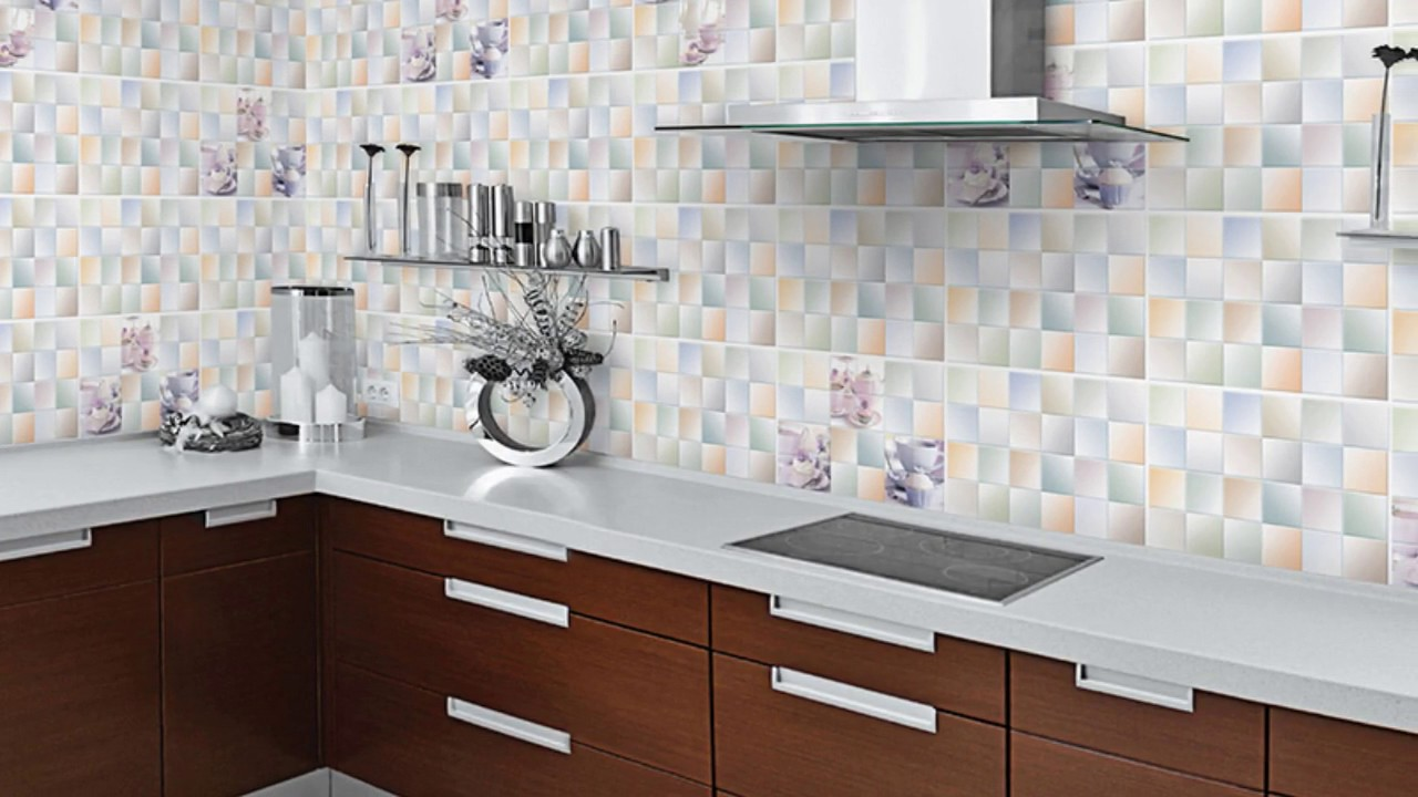 Kitchen wall tiles design at home ideas youtube Kitchen design of tiles