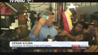 Acuña comentó resultados de la encuesta de Datum [Elecciones 2016]