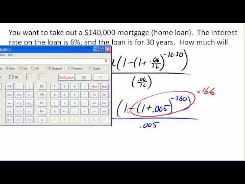 Calculating payment on a home loan