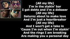 Saturnz Barnz (feat. Popcaan) - Gorillaz (Lyrics Video) (Official Audio)